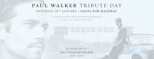 Paul Walker Tribute Day - Santa Pod Raceway 18th January 2014 Image