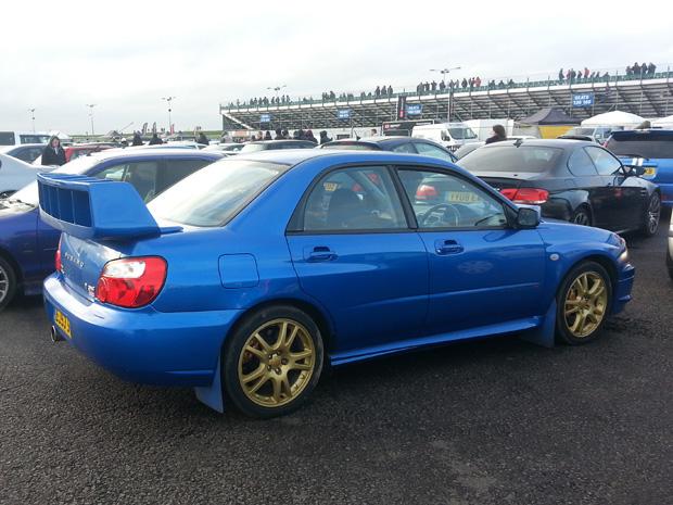 In Jay's Subaru Impreza